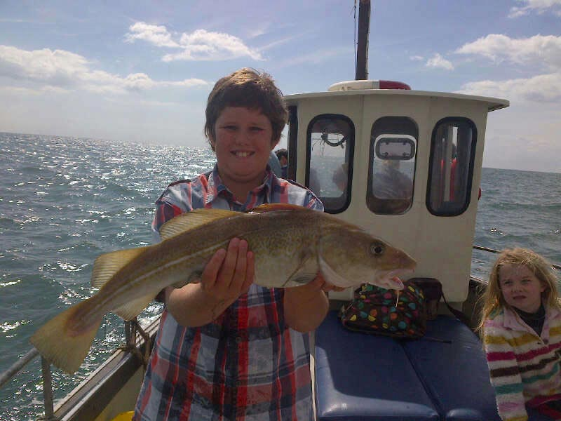 My god, he caught a cod