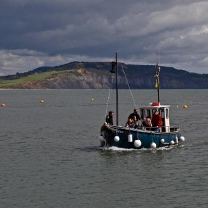 Kraken boat returning to harbour