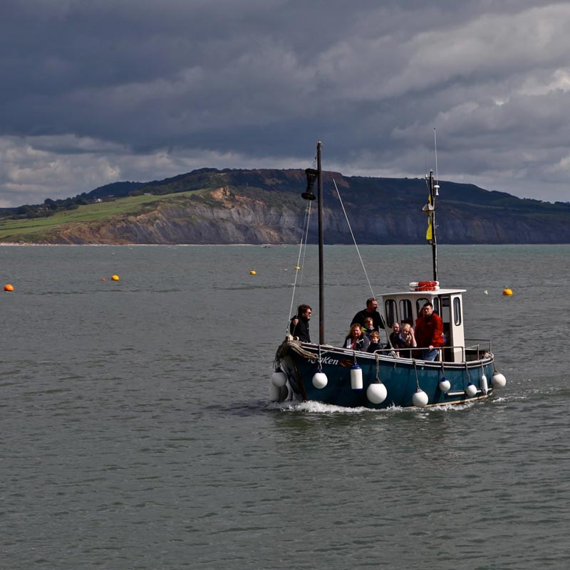 Kraken boat returning to harbour