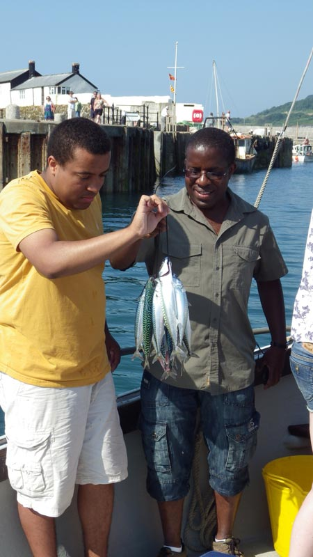 We caught mackerel
