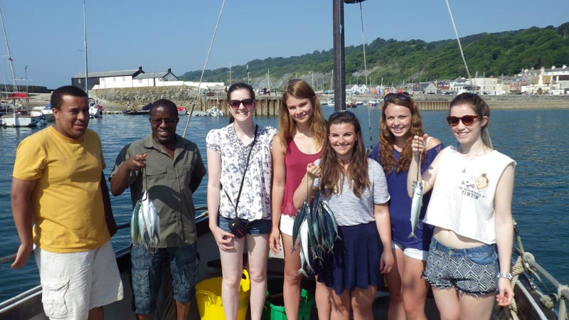 We caught mackerel on Nick's Fishing and Boat Trips