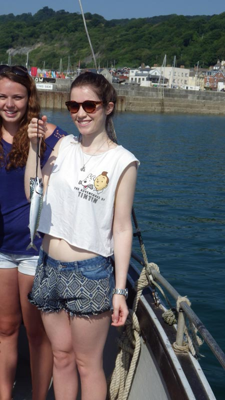 I caught a mackerel